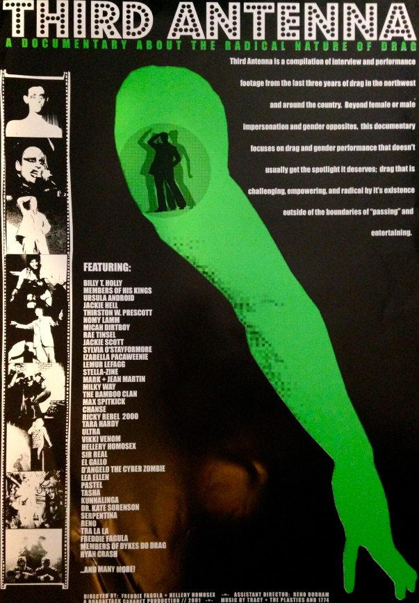THIS IS THE PROMOTIONAL POSTER FOR THIRD ANTENNA. IT WAS DESIGNED BY JERRY BEARD.